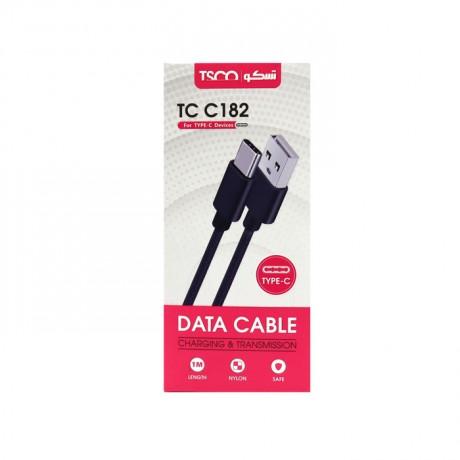 کابل شارژ و دیتا تسکو TYPE-C مدل TSCO TC C182